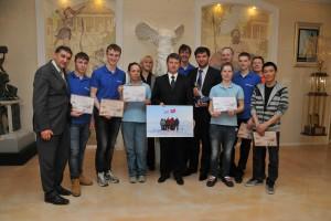 Встреча участников экспедиции с заместителем министра спорта, туризма и молодёжной политики Российской Федерации Олегом Рожновым