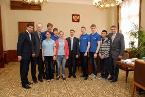 Встреча участников экспедиции с помощником Президента РФ Аркадием Дворковичем