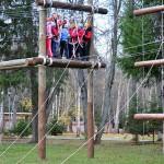 Дети из Филимонков на тренажерах парка «Открытие»
