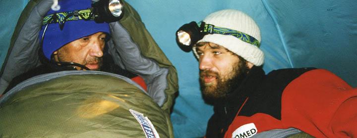 Отец и сын в одной палатке