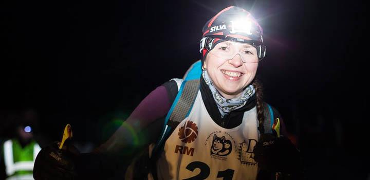 Елена Мачтина во время ночного этапа