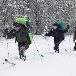 Детский лагерь зимой в Карелии