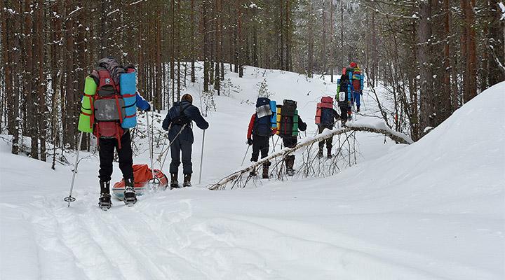 Главная часть УТС – 120-километровый лыжный поход.