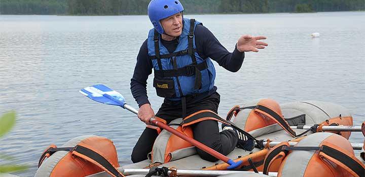 Директор «Большого Приключения» мастер спорта Ю.М. Бабинцев.
