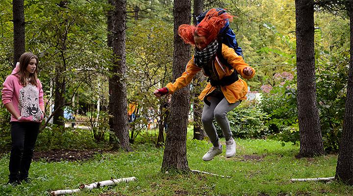 БП-триатлон – прыжки с рюкзаком