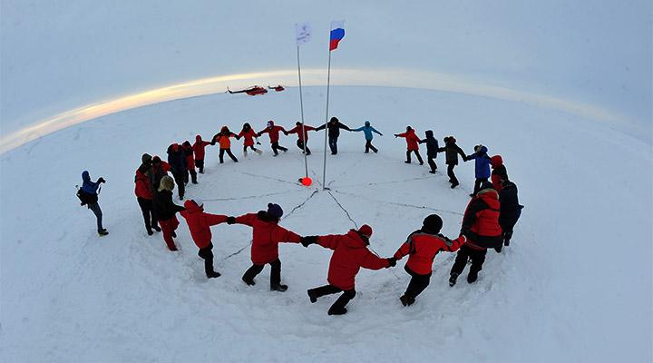 Кругосветное путешествие за 1 минуту можно совершить только на Северном полюсе.