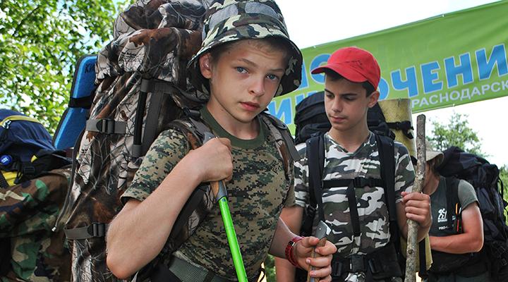 За лето в краснодарское «Большое Приключение» приезжают полтысячи таких вот Федоров, Тимуров, Александров, Андреев.