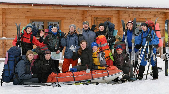 Учебная группа кандидатов в команду IX молодежной полярной экспедиции.
