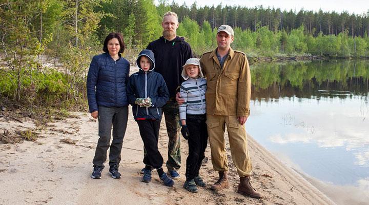 Светлана и Денис, инструктор Андрей, Тимофей и Владимир.
