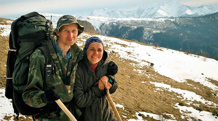 Туристская семья: Иван Львович и Наталья Сергеевна.
