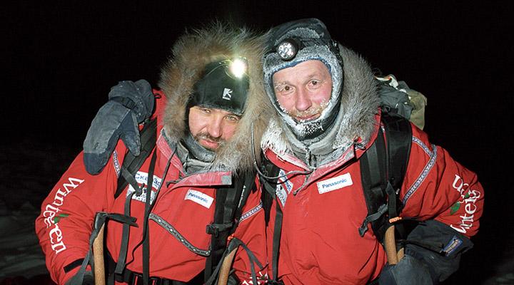 Матвей Шпаро и Борис Смолин перед стартом экспедиции к Северному полюсу, декабрь 2008 года