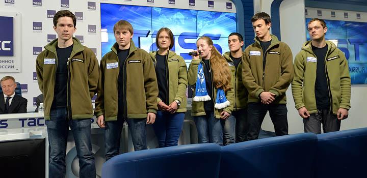 Пресс-конференция участников путешествия в агентстве ИТАР-ТАСС