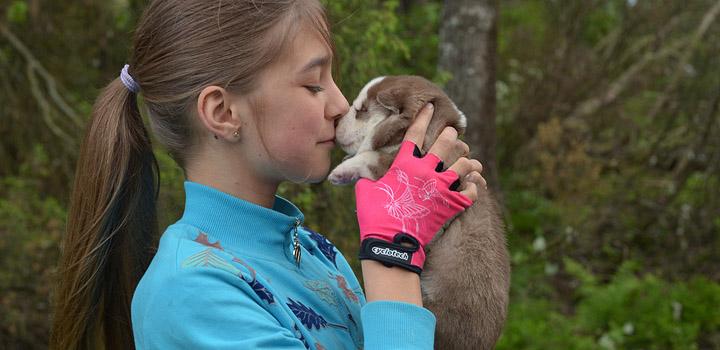 Мокко и Женя. Первый поцелуй.