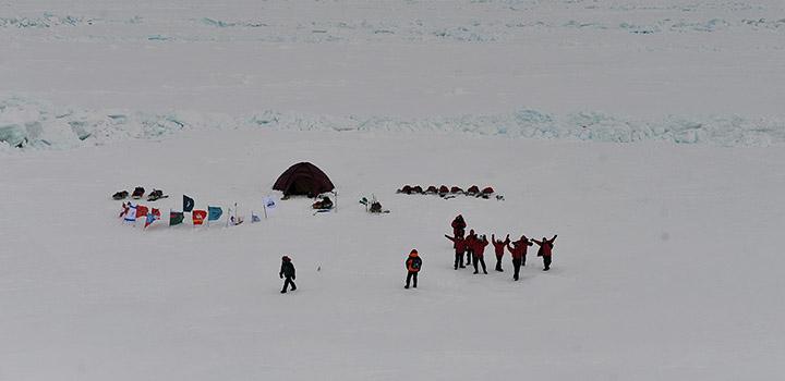 Подростки обживают Северный полюс.