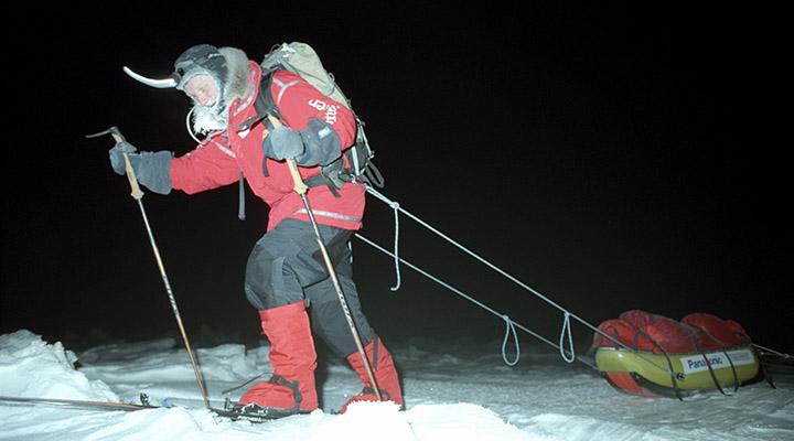 Замороженный свет космического холода полярной ночи.