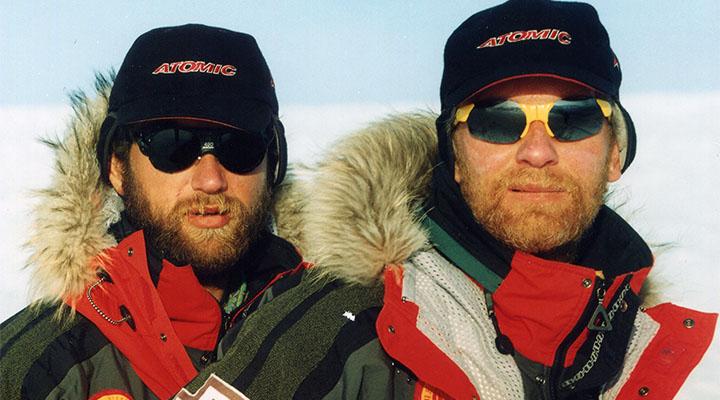 Матвей Шпаро (слева) и Борис Смолин. Гренландия, 2000 год.