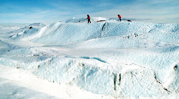 Выход на ледовый купол Гренландии.