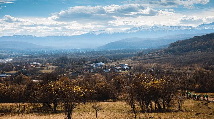 Высокое небо осенней Кубани.