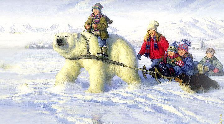Рисунок из проекта «Мотосани или медведи – есть ли альтернатива у будущего «чистой» Арктики».